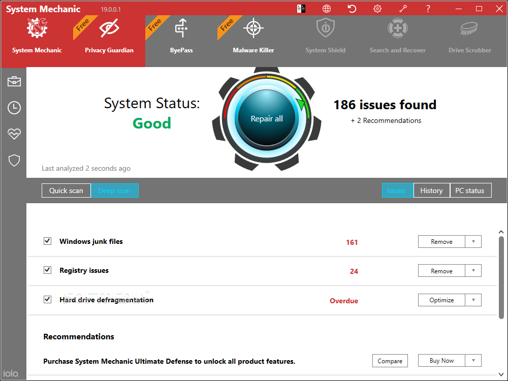 System Mechanic Pro 20.0.0.4 Crack Ultimate Defense 2020